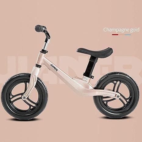 SSBH Espuma Magnesio Aleación Caucho Neumático Scooter No Pedal Entrenamiento Bicicleta Ejercicio Niño portátil for niños Bicicleta infantil de equilibrio 2-8 años de edad 12 pulgadas Amortiguación de: Amazon.es: Deportes y aire