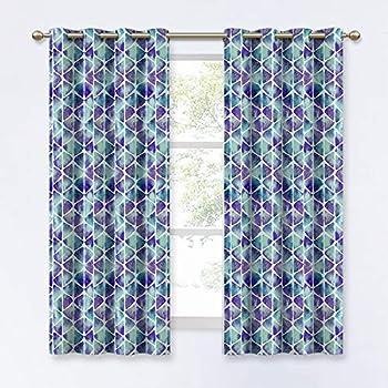 Amazon Com Kgorge Abstract Geometric Theme Print Curtains