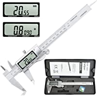 Digital Vernier Caliper,Electronic Digital Caliper Stainless Steel Body with Large LCD Screen | 0-6 Inches /150 mm| Inch/Millimeter Conversion