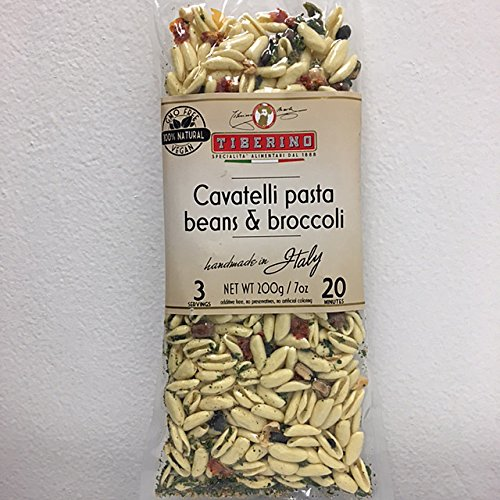 Tiberino's Real Italian Meals - Cavatelli pasta with beans and broccoli 7 oz