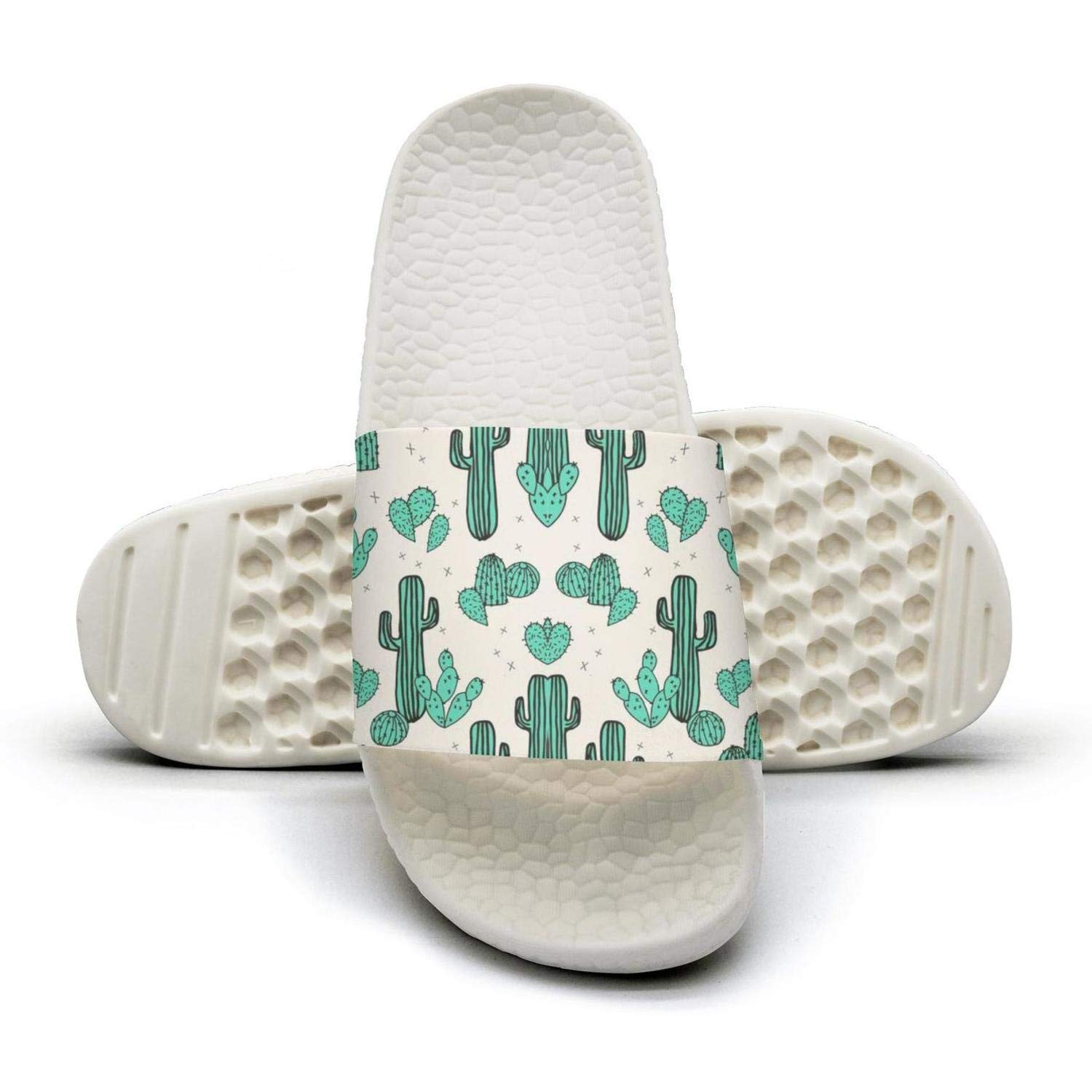 NAILINA Cactus Cacti Drawing Slippers Women Slip on Sandals Cool Slides Shoes