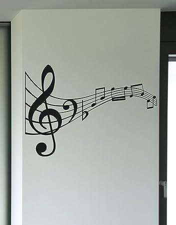 Amazon.com: Stickerbrand© Music Vinyl Wall Art Music Notes Wall ...