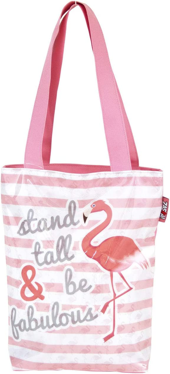 Pink 30 x 35 cm Arditex ZK50004 Flamingo Ply//PVC Shop Bag