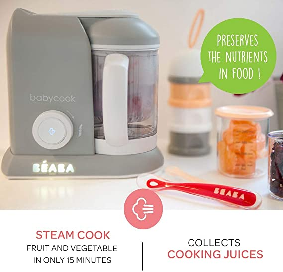 BEABA Babycook Procesador de alimentos gris Talla:Babycook: Amazon.es: Bebé