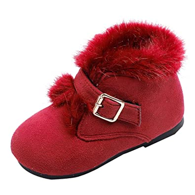 ffe488c54e07 Boomboom Baby Shoes Girls Boys Warm Winter Flat Shoes Snow Boots(Toddler Little  Kid)  Buy Online at Low Prices in India - Amazon.in