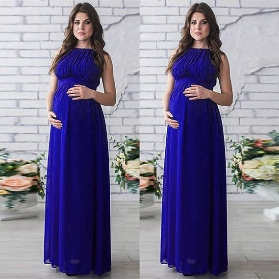 Yesmile Vestido de Mujer Falda Blanco Ropa Vestido Elegante de Noche para Boda Fista Las Mujeres Embarazadas Cubren los Vestidos Largo de la Fotografía ...