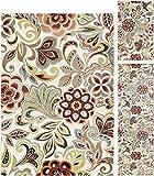 Dilek Transitional Floral Ivory 3-Piece Area Rug Set, 3-Piece Set Review