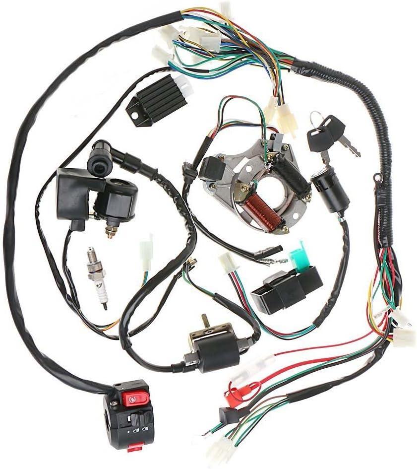 Amazon.com: Annpee Complete Electrics Stator Coil CDI Wiring Harness for 4  Stroke ATV KLX 50cc 70cc 110cc 125cc: Automotive [ 944 x 844 Pixel ]