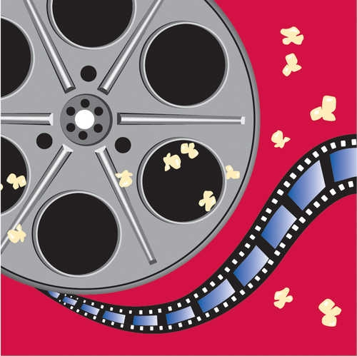 16-Count Paper Lunch Napkins, Reel Hollywood Movie Reel -