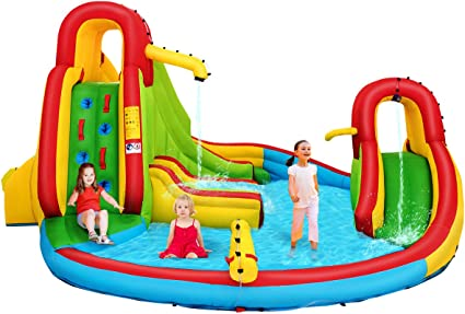 Amazon.com: Costzon - Castillo inflable de tobogán de agua ...