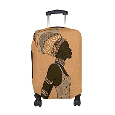 01c776ffe6a7 Amazon.com | DEYYA African American Girls Spandex Travel Luggage ...