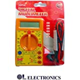 DT830D Small Digital Multimeter, Yellow Color by OL ELECTRONICS