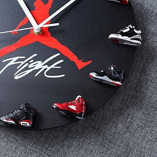 JoonieHouse Air Jordan Wall Clock with 3D Print Sneakers ...