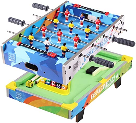 LCRACK Mesa Multifuncional Combo Sport Machine 2 En 1 Operación Fácil Portátil Mini Mesa (Color : Football+Billiards): Amazon.es: Hogar