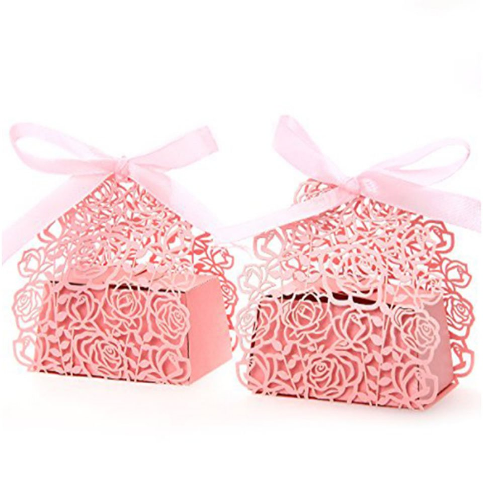 Amazon.com: Pixnor 50pcs Wedding Sweets Candy Boxes Gift Favour ...