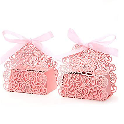 Amazoncom Pixnor 50pcs Wedding Sweets Candy Boxes Gift Favour