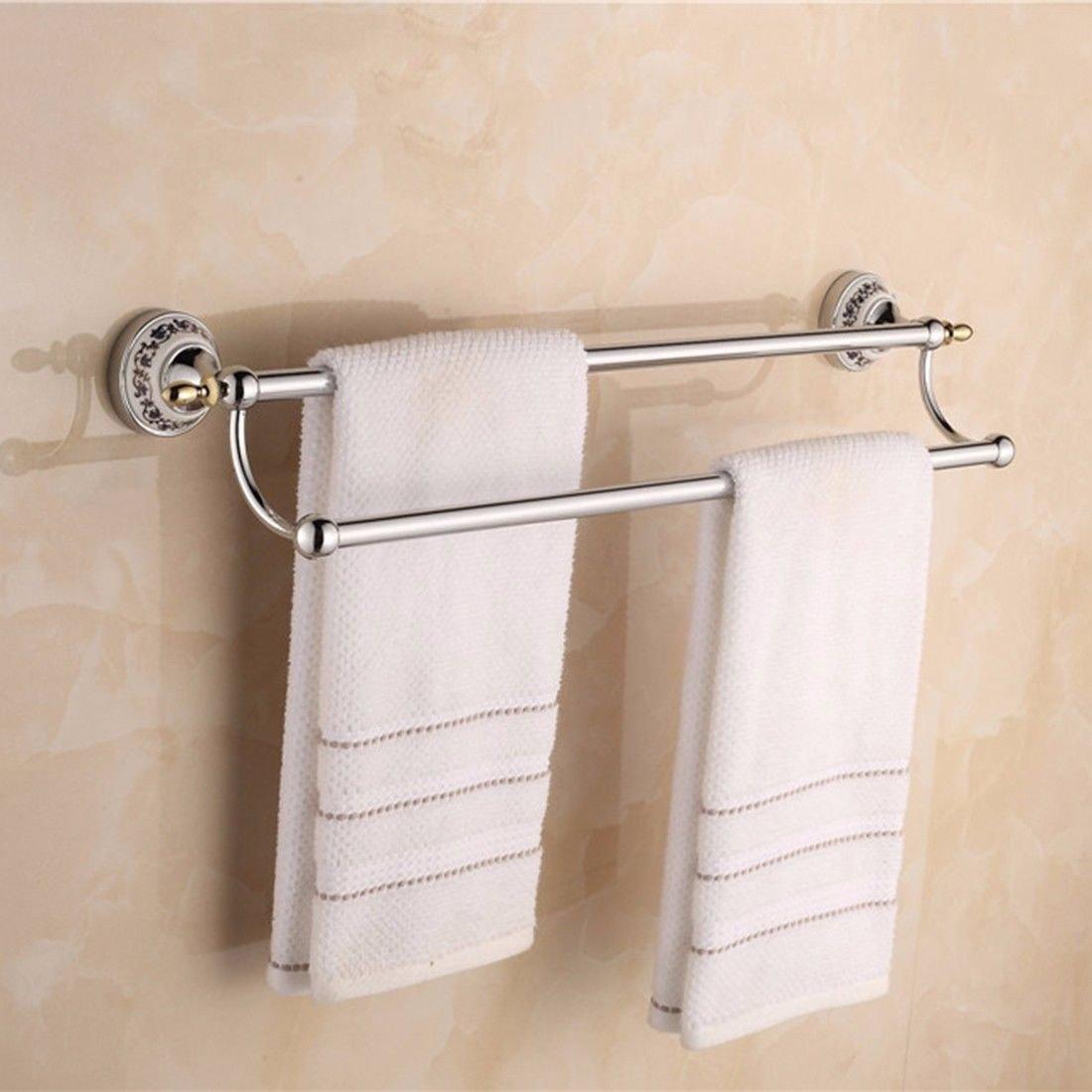 Airobin Zeitgenossische Chrom Uberzogene Blaue Und Weisse Porzellan Aktivitaten Handtuchhalter Wand Badezimmer Zubehor