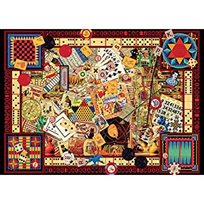 Ravensburger Vintage Games 1000 Piece Jigsaw Puzzle for Adults – Every piece is unique, Softclick technology Means Pieces Fit Together Perfectly: Toys & Games