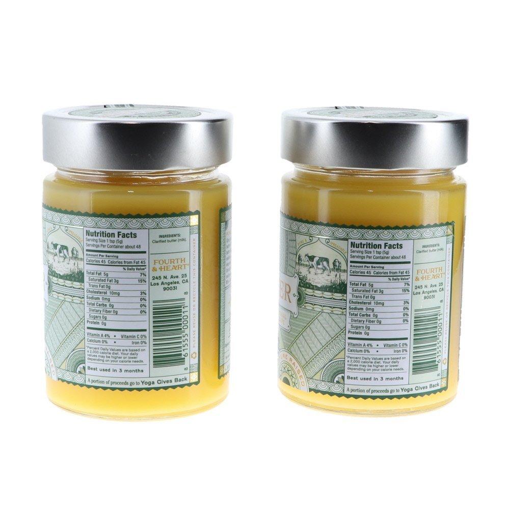 4th & Heart Original Salt Grass-Fed Ghee Butter, 9 Ounce Bundle (2 pack) by Fusion Apparel (Image #2)