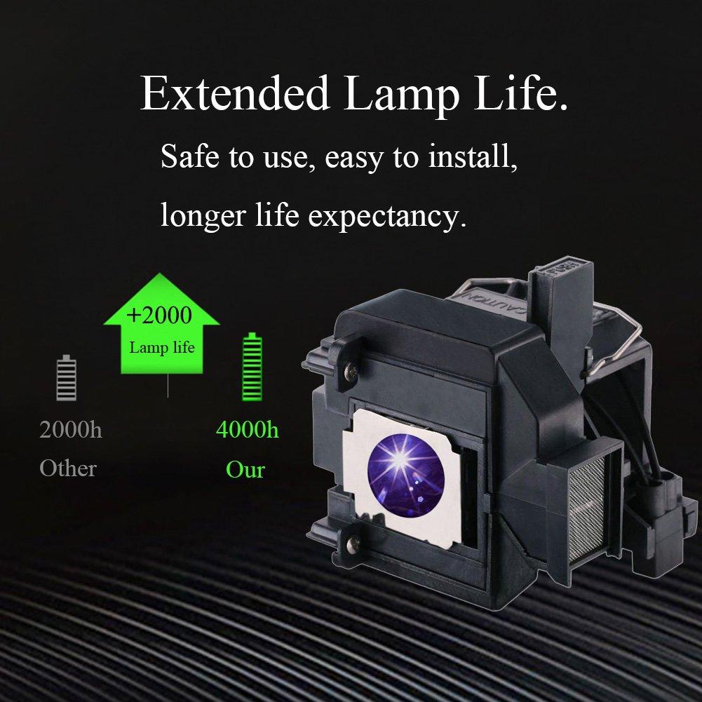 YOSUN Replacement Projector Lamp Bulb for Epson Elplp69 PowerLite Home Cinema 5020ub 5030ub 5025ub 5020ube 5030ube 5010E Pro Cinema 6030ub 6020UB 6010 4030 v13h010l69 Replacement Projector Lamp Bulb