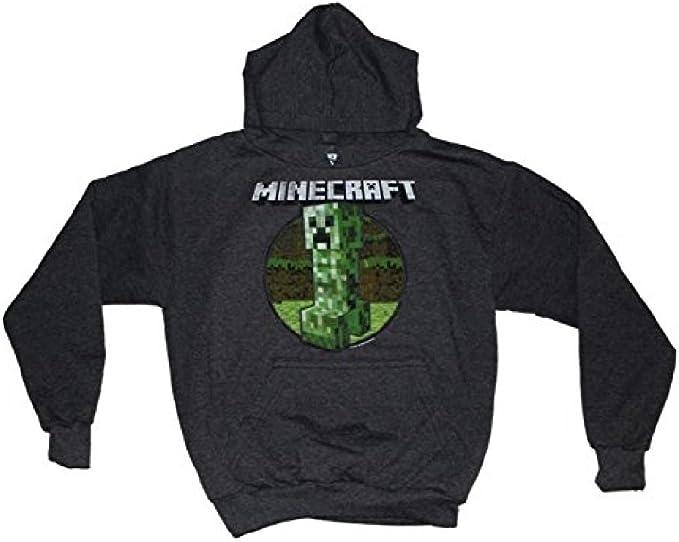 Minecraft Hoodie avec Creeper Design à Manches Longues Sweat-shirt pour Garçons Filles Ados