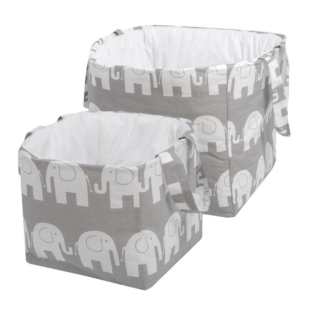 KempKids Set: Aufbewahrung Korb Groß und Klein Veranstalter Box Kind Spielzeug Elefanten Sango Trade