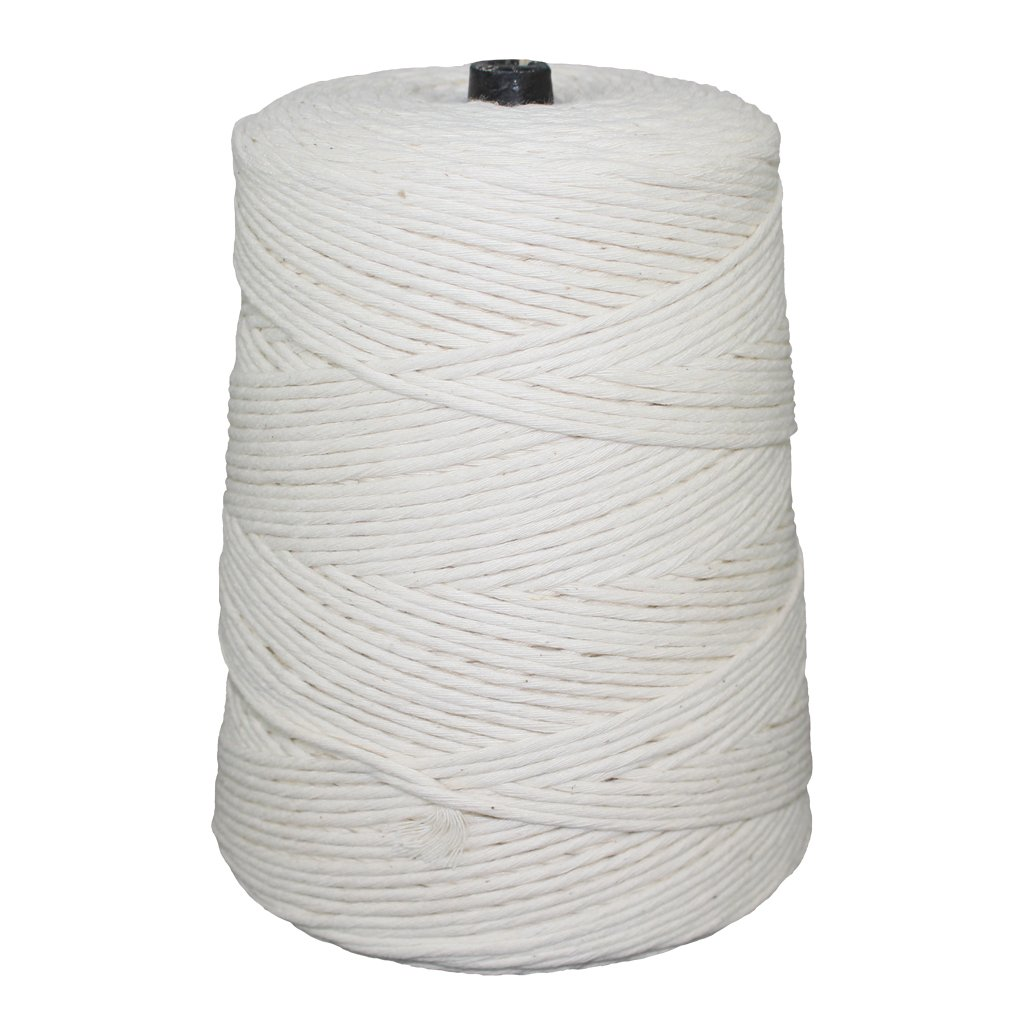Cotton Butcher Twine with Polyester - SGT KNOTS - 2 Pound Cone (24 ply, 2 lb, 1680 ft) - All-Purpose Kitchen String for Cooking, Wrapping Cuts, Tying Roasts, Food Packaging, Packages, & Crafting by SGT KNOTS