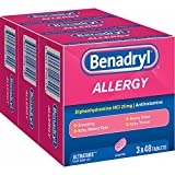 Benadryl Allergy 25mg Ultratabs, 144 ct. (pack of 6)