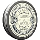Lather & Wood Shaving Soap - Sandalwood - Simply the Best Luxury Shaving Cream - Tallow - Dense Lather with Fantastic Scent for the Worlds Best Wet Shaving Routine. 4.7 oz (Sandalwood)