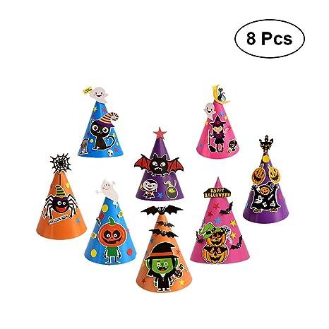 Raccogliere varietà di stili del 2019 fascino dei costi BESTOYARD Halloween Party Cappelli Cartoon Fai da Te Tappo ...