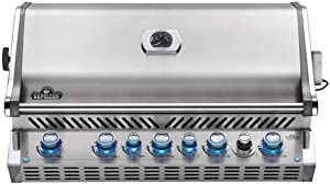 Napoleon BIPRO665RBPSS-3 Burner, Stainless Steel Built-in Prestige PRO 665 Propane Gas Grill Head with Infrared Rear B