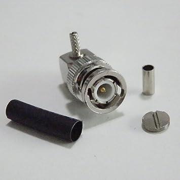 Conector BNC macho Winkel Proutone adaptador RF para unir cables RG174 LMR100 RG316 RF Cable Coaxial