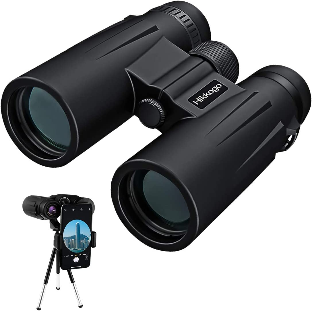 Binoculars, 12×42 Binoculars for Adults, Binoculars for Hunting, Compact Binoculars with Tripod, Smartphone Adapter for Hunting, Bird Watching, Hiking, Traveling and Sports