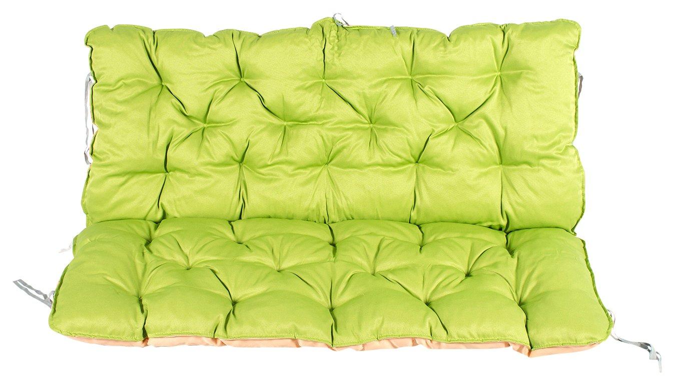 Meerweh Mare WEH cuscino con schienale per panca ca. 120x 98x 10cm, Verde/Beige, 20060 MEERQ