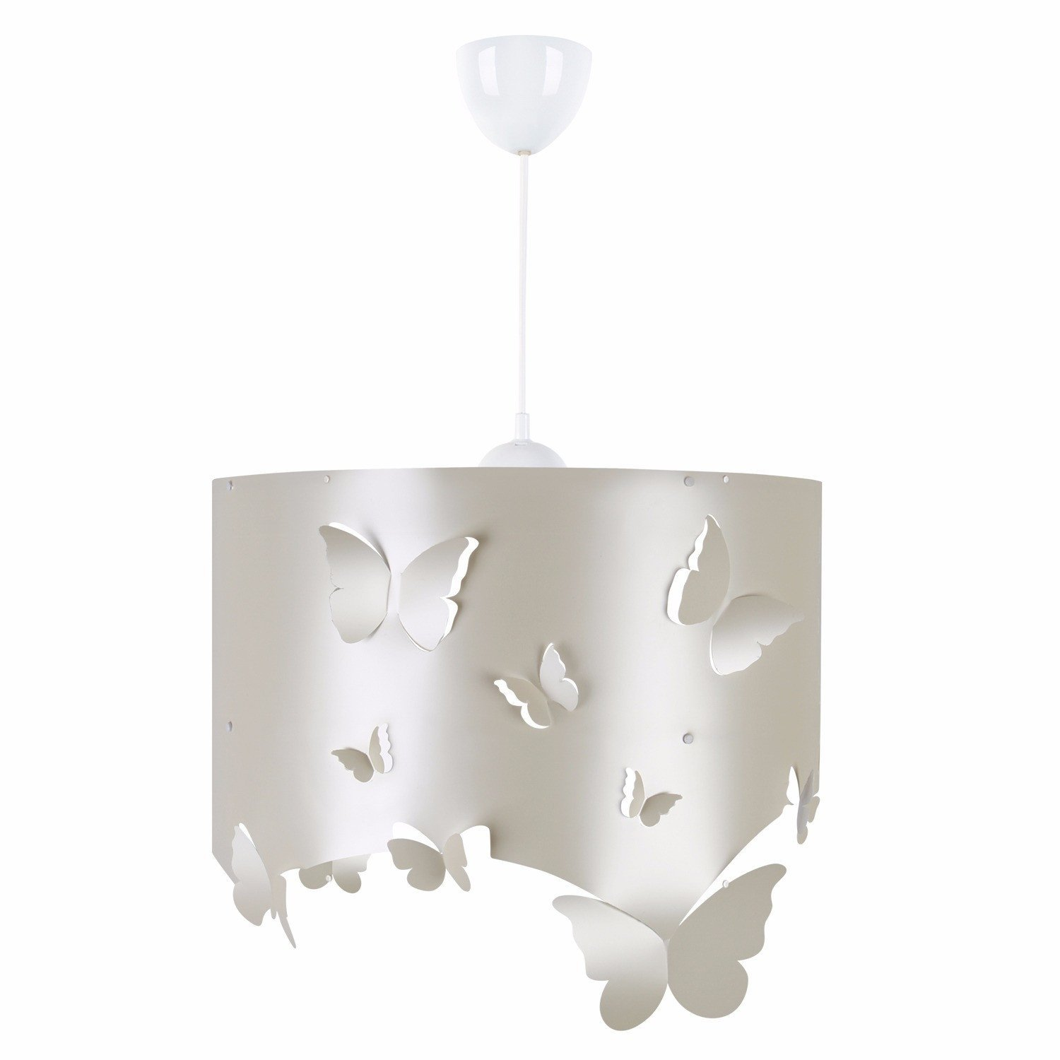 LaModaHome Lifes from Nature Chandelier, Butterflies on The Surface, Modern, Decorative - Hang Ceiling Lighting Fixture for Home & Office, Living Room, Study Room