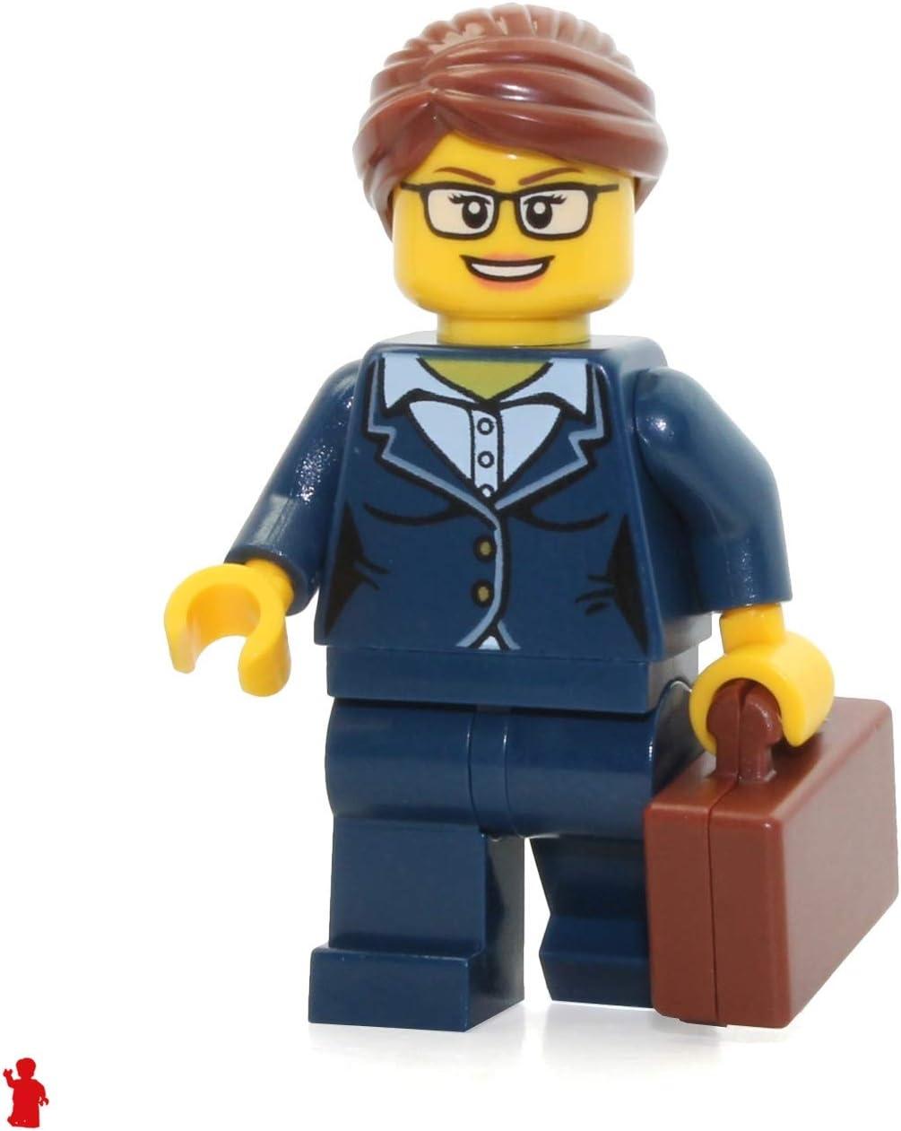 LEGO City Minifigure: Businesswoman (Dark Blue Pants Suit, Glasses) 60134