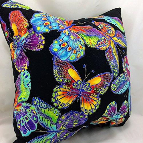 Filled Novelty Accent Throw Pillow Metallic Butterflies by G