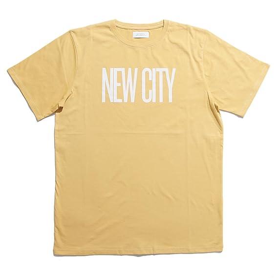16241354ef Amazon | (サタデーズ ニューヨークシティ) SATURDAYS NEW YORK CITY NEW CITY フロント プリント 半袖  Tシャツ M21829PT09 イエロー/S | Tシャツ・カットソー 通販