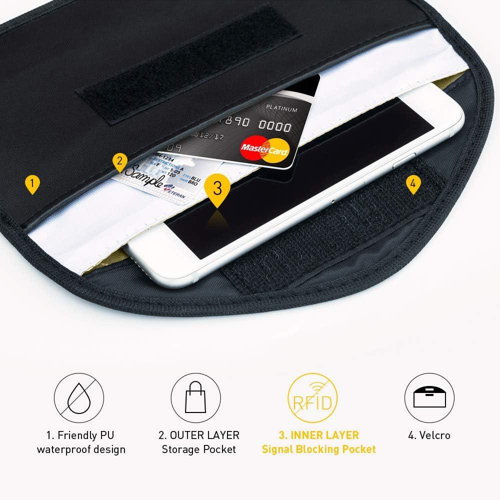 2 STK Auto Blocker Anti-Hacking Faraday Case RFID Funkschl/üssel Abschirmung Schl/üsseltasche Keyless Go Schutz Autoschl/üssel Schutz Keyless H/ülle