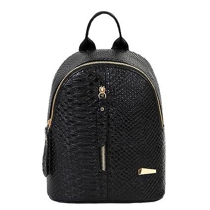 Bolsos mochila mujer,Amlaiworld Mochilas mujer casual de cuero Bolsa de viaje mochilas escolares niña