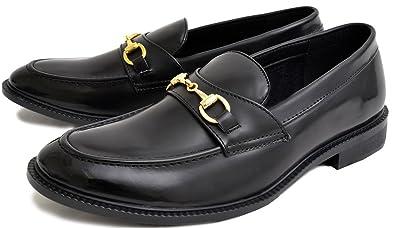 メンズシューズ ローファー ゴールド ビットローファー メンズ スリッポン カジュアル ビジカジ 黒 白 靴 くつ シューズ スリッポン