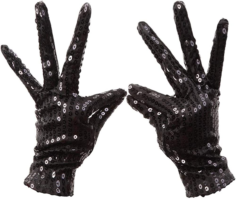 Ocamo Handschuhe Schimmer Pailletten Kost/üm Handschuhe Halloween Maskerade Party Handschuhe Supplies Decor Zubeh/ör 1 Para