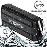 Reserwa Bluetooth Speakers with TWS Pairing Function Wireless Speakers V4.2 IPX5 Waterproof Full-range Speakers Enhanced Bass Built-in Mic Portable Speaker for Outdoor Home Shower Beach (Black)