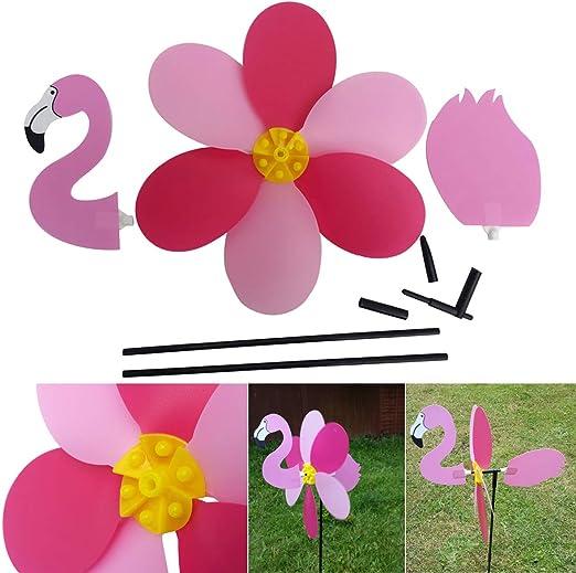 Schone Products - Girandola da Giardino con Un Bel Design con Fenicotteri Rosa Che aggiunge Movimento cinetico al Vostro Giardino o Patio UK