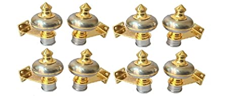 Royal LOOKSILVER Gold Rod Rail Curtain Bracket/LATTU/Finial Color Silver Gold  Pack OF8  Accessories