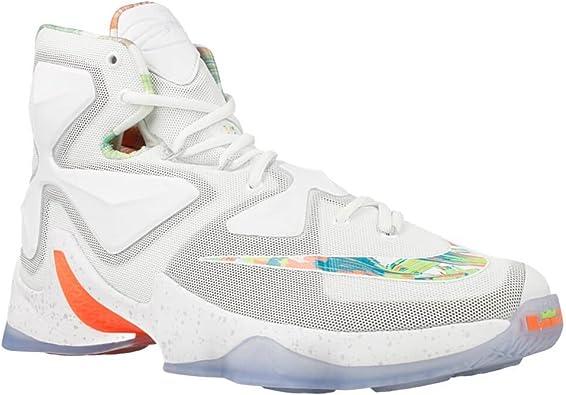 Amazon.com | Nike Lebron XIII Elite Men's Basketball White ...