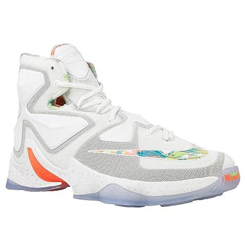 Buy Nike Lebron James Xiii Basketball Shoes White Size 11 5 U S At Amazon In