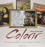 capa de Obras de Arte Para Colorir. De Botticelli a Picasso