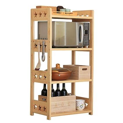 Amazon Com Standing Shelf Units Shelf Kitchen Rack Floor Solid