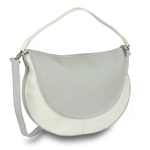 efeb63e045 Voi RV Bag hirsch-prägung 21899 Cattle Leather Ladies - Platinum White
